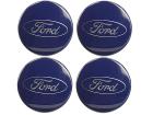 Kit 4 Sub-calota Roda de Liga Leve Ka 2011 à 2013 Azul – Original Ford